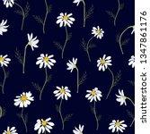 field daisies seamless pattern...   Shutterstock .eps vector #1347861176