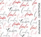handlettering london pattern.... | Shutterstock .eps vector #1347875456