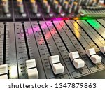 audio mixer console with light... | Shutterstock . vector #1347879863