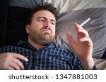 man stop smoking concept... | Shutterstock . vector #1347881003