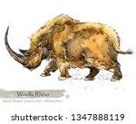 ice age wildlife. prehistoric... | Shutterstock . vector #1347888119
