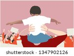 illustration of peaceful crowd... | Shutterstock .eps vector #1347902126