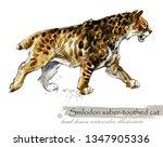 ice age wildlife. prehistoric... | Shutterstock . vector #1347905336