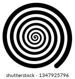 hypnotic spiral background...   Shutterstock .eps vector #1347925796