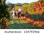 Horseback Riding Couple In A...
