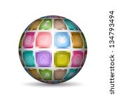 sphere with social media icon . ...   Shutterstock .eps vector #134793494