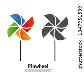 the pinwheel logo flat icon... | Shutterstock .eps vector #1347951539