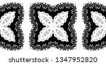 black and white seamless... | Shutterstock . vector #1347952820
