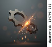 gears with sparks | Shutterstock .eps vector #1347954386