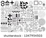 mega set of memphis design... | Shutterstock .eps vector #1347954503