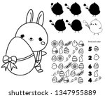 easter activity page for kids....   Shutterstock .eps vector #1347955889