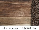 coffee beans arranged on a... | Shutterstock . vector #1347961436