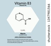 vitamin b3. a nicotinic acid.... | Shutterstock .eps vector #1347981566
