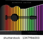 acoustic guitar abstract poster | Shutterstock .eps vector #1347986003