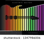 electric guitar abstract poster | Shutterstock .eps vector #1347986006