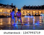 children  refreshing on a very... | Shutterstock . vector #1347993719