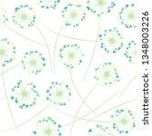 dandelion blowing plant vector... | Shutterstock .eps vector #1348003226