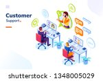 customer service people office... | Shutterstock .eps vector #1348005029