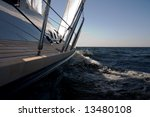 9 knots. voyage by the yacht | Shutterstock . vector #13480108