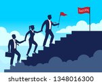 silhouette leader businessman... | Shutterstock .eps vector #1348016300