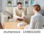 young stressed man in... | Shutterstock . vector #1348022600