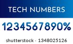 abstract vector numerals set   Shutterstock .eps vector #1348025126