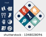 pair icon set. 13 filled pair... | Shutterstock .eps vector #1348028096