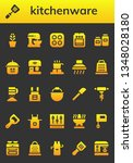 kitchenware icon set. 26 filled ... | Shutterstock .eps vector #1348028180