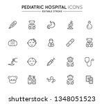 outline icons set. pediatric...   Shutterstock .eps vector #1348051523