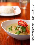 Chicken Green Curry  Thai Food.
