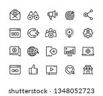 inbound marketing line icons.... | Shutterstock .eps vector #1348052723