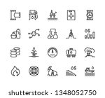 oil line icons. gas fuel... | Shutterstock .eps vector #1348052750