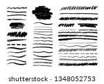 grunge pencil line. scribble... | Shutterstock .eps vector #1348052753