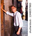 ordinary young european guy in... | Shutterstock . vector #1348057883