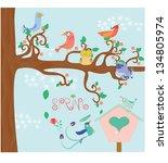 spring landscape | Shutterstock .eps vector #134805974