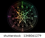 wiccan symbol of protection.... | Shutterstock .eps vector #1348061279