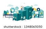 vector business illustration ... | Shutterstock .eps vector #1348065050