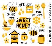 honey funny doodle set....   Shutterstock .eps vector #1348068113