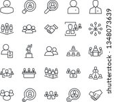 thin line icon set   hierarchy... | Shutterstock .eps vector #1348073639