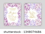 wedding invitation card... | Shutterstock .eps vector #1348074686