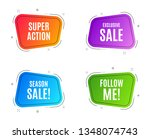 geometric banners. exclusive... | Shutterstock .eps vector #1348074743