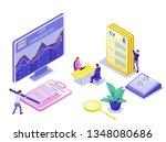job agency isometric...   Shutterstock .eps vector #1348080686
