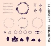 floral elements  vector set.... | Shutterstock .eps vector #1348085459