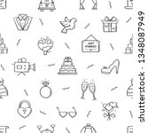 line style wedding pattern....   Shutterstock .eps vector #1348087949