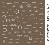 vintage decor elements and... | Shutterstock .eps vector #1348091636