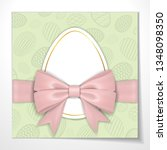 happy easter background  pastel ... | Shutterstock .eps vector #1348098350