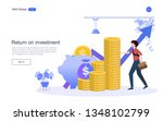 concept for financial and... | Shutterstock .eps vector #1348102799