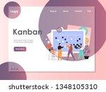 kanban vector website template  ... | Shutterstock .eps vector #1348105310