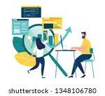 vector illustration of business ... | Shutterstock .eps vector #1348106780