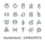 minimal cute baby icon set | Shutterstock .eps vector #1348109573